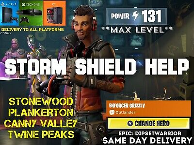 Fortnite Storm Shield Defense SSD Save The World Help Assistance MAX LEVEL PL131