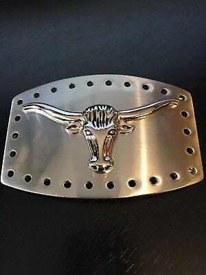 Longhorn Steer Belt Buckle Dimensional Classico Itala Marked See Through Great