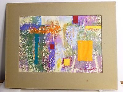 Leo Russell VINTAGE ABSTRACT EXPRESSIONIST PAINTING MID CENTURY MODERN MOMA NY
