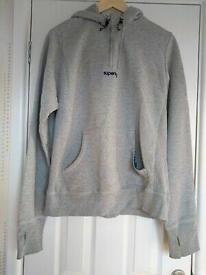 competitive price a4bdd 45151 MENS SUPERDRY ORANGE label pale grey pullover hoodie size L, good condition