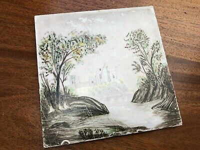 A Interesting Minton Hollins Hand Painted Tile