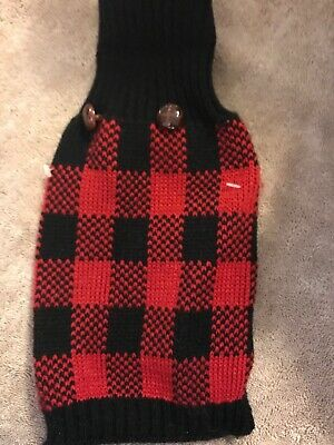 Red And Black Plaid Dog Sweater