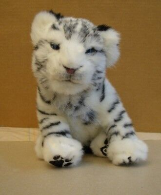 2007 WowWee White SIBERIAN TIGER Interactive  Electronic Soft Plush 15""
