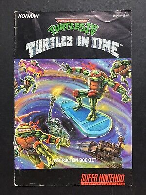 Nintendo SNES - TMNT IV 4 Turtles in Time Instruction Booklet Manual Notice USA