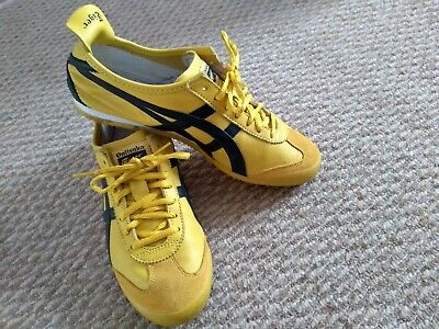 new product 08bdc 4af5f ONITSUKA TIGER MEXICO 66 yellow/black trainers, size 8, Bruce Lee