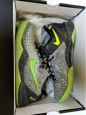 be506eea9921 Pre-Owned NIKE Kobe 8 System SS sz 9 Christmas Edition Black Electric Green  Gold