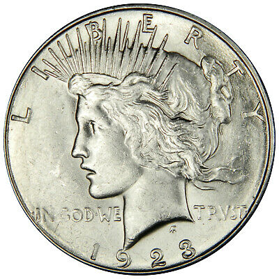 1923-S Peace Dollar ~ Nice Flashy Au+/bu About Uncirculated ~ Priced Right!