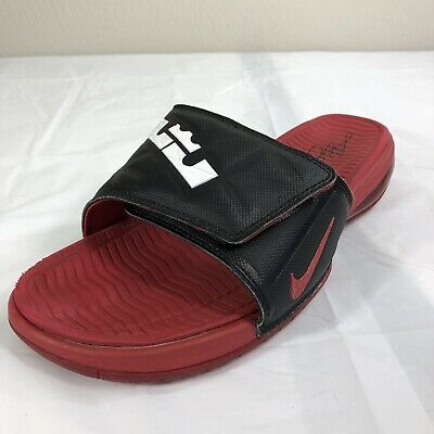 1fc08e383dc Nike Air Lebron Slides Size 11 Shower Shoes Red Beach Sandal (LEFT SHOE  ONLY)