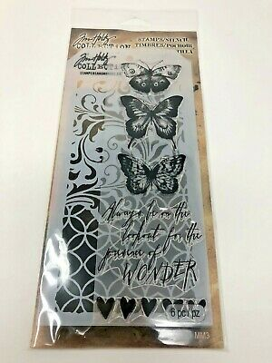 Tim Holtz Stampers Anonymous Wonder Butterfly Clear Stamps & Stencil ACMM103