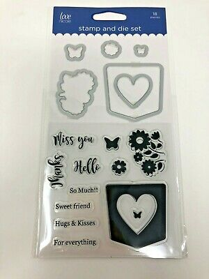 Love Nicole Sweet Sentiments Clear Stamps & Coordinating Dies Miss You Thanks