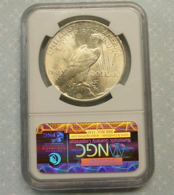 1923 NGC MS65 Peace Silver Dollar, Radiant Mint Luster, Gem MS 65 $1 Coin