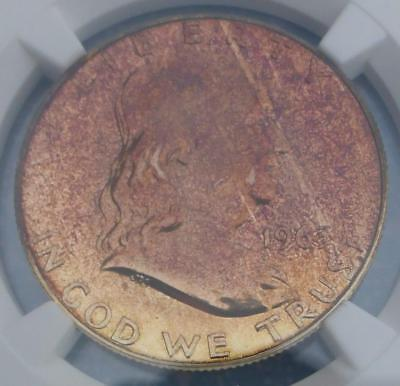 1963 NGC Proof 66 Silver Franklin Half Dollar, Gem PF66 Coin, Coppery Color