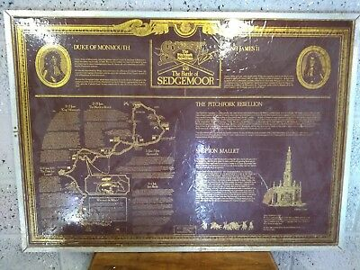 Old Historical Site Sign- The Battle Of Sedgemoor, Unusual.