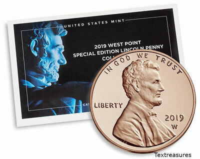 1-2019 W Proof Lincoln Cent Penny-With Envelope and COA-SEALED IN MINT PACKAGING
