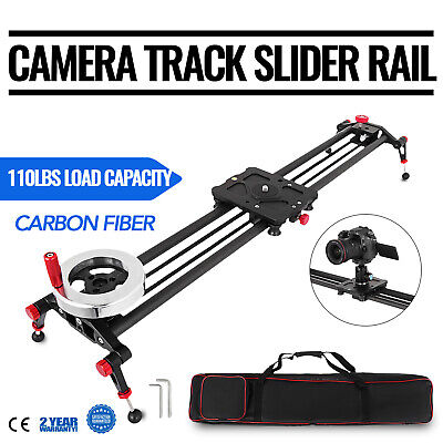 "31.5"" DSLR Camera Track Slider Video Stabilizer Rail 6 Bearings Dolly Tripod"