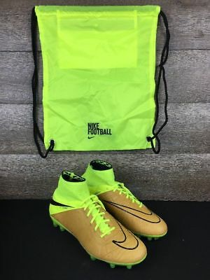 19eb3cd910b  300 NIKE HYPERVENOM PHANTOM II LEATHER VOLT Cleats Size 8 747501-707 With  Bag