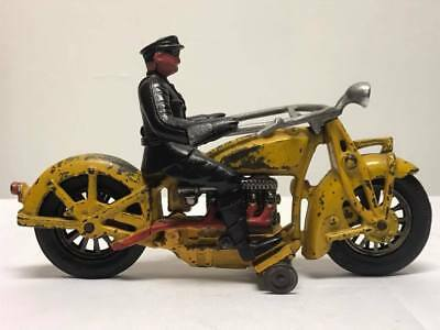 Antique Cast Iron Hubley Indian 4 Cylinder Motorcycle