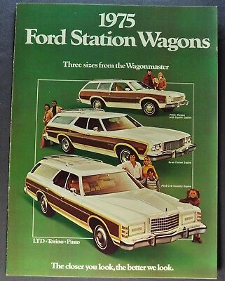 1975 Ford Station Wagon Brochure LTD Country Squire Torino Pinto Excellent Orig