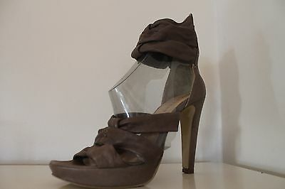 PAOLA FERRI By Alba Moda Ladies Brown Mink Sandals Shoes UK 3.5 Eur 36 New