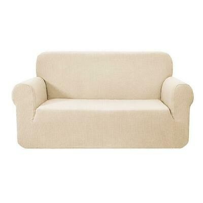 Beige 2 Seater High Stretch Sofa Seat Cover Couch Lounge Protector Slipcovers