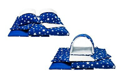 SET of Royal blue/white stars C&C and Ferplast cage liners