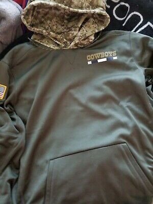 best service 056ee bf4b1 NIKE NFL MEN'S Salute to Service Sideline Hoodie Dallas Cowboys XL