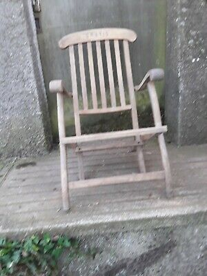 Antique / Vintage Steamer Deck Chair -Original Item for Restoration