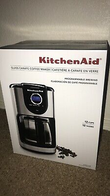 KitchenAid 12-Cup Glass Carafe Coffee Maker Onyx Black KCM111OB