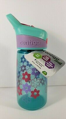 Contigo Autospout Straw Striker Kids Water Bottle, 14 oz, Ultramarine *BRAND NEW