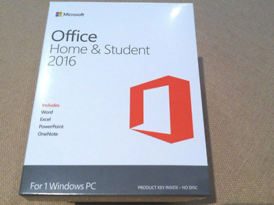 Microsoft Office 2016 Home And Student Windows Pc License Full Version 32/64 Bit
