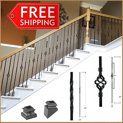 Premium Iron Balusters for stair railing and balconies -Spindles stair railing