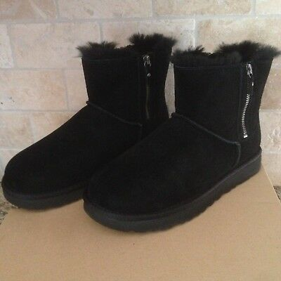 fd027f3e4ed NEW NWOB WOMENS Size 5 Black Ugg 1013165 Florence Zip Up Suede ...