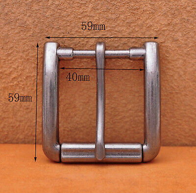 Antiqued Silver Single Prong Replacement Roller Belt Buckle Fits 40mm Belt Strap