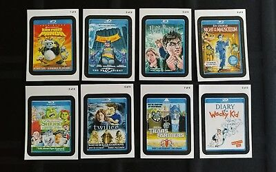 2011 Wacky Packages Ans8 Go To The Movies Compete Set Of 8 Stickers