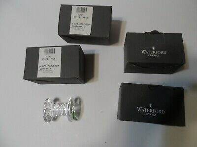 4 Waterford Crystal 3 rib, 8 Point Star Knife Rest, Paper Weight org. boxes