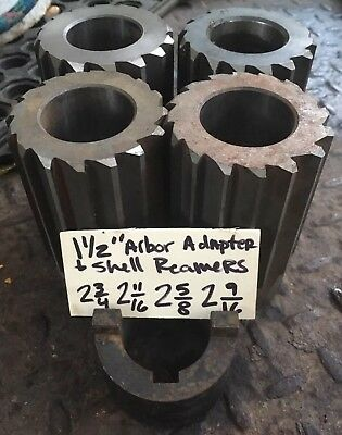 """Shell Reamer Lot of 4: 2-9/16"""" 2-5/8"""" 2-11/16"""" 2-3/4"""" HSS with 1-1/2"""" Arbor Hole"""
