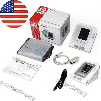 CONTEC08A Digital Upper Arm Blood Pressure Monitor NIBP cuff SpO2 Probe Software