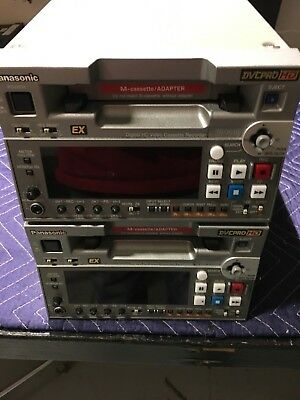 TWO (2)  Panasonic DVC Pro HD VTR AJ-HD1400 with 1 Custom Road Case