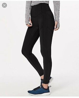 Lululemon All In The Right Places Tights Black Size 6 (AU size 10)