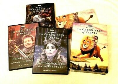 The Chronicles of Narnia Movie Boxed 3 DVD Set BBC CS Lewis WonderWorks + POSTER