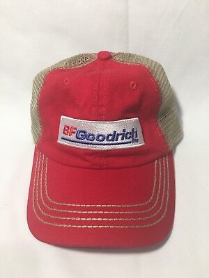 Vintage BF Goodrich Embroidered Red Mesh Trucker Hat Cap Rare Adjustable VGC