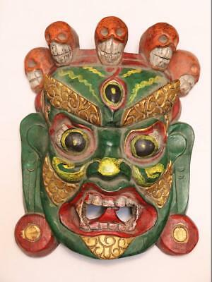China Hand Art Carved Conventional Painted Wood Ghost Ghosts And Hods Mask