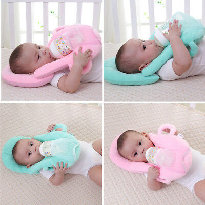 Baby Nursing Feeding Pillow Cushion with Bottle Holder Hand Free Neck Pillow LOT