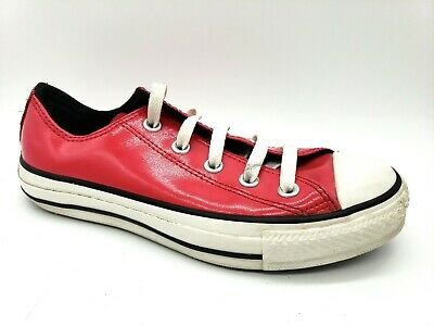 f536ed0b54007d Converse Hot Pink Patent 104091 Leather All Star Low Sneakers Womens Size 6