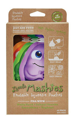 Reusable Food Squeeze Pouches - Mixed Colours x10 - Little Mashies
