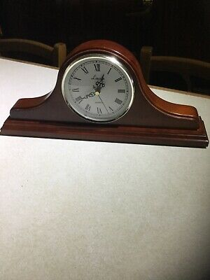 Clock. Lincoln. Mahogany Wood Effect. Free Standing. Lovely. Used. No Battery.