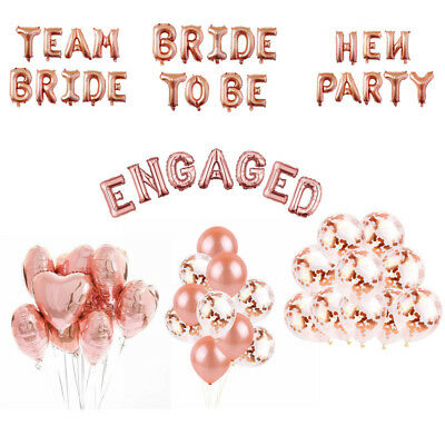 Bride to Be/ Team bride/ Hen Party/ Engaged balloons Foil Latex Helium Wedding