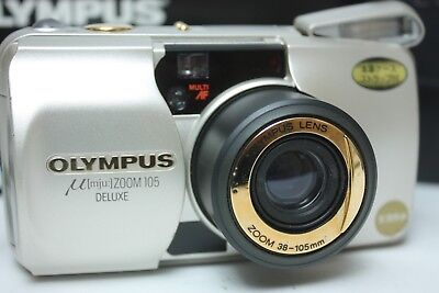Olympus MJU Zoom 105 35mm Point & Shoot Film Camera BOXED EXCELLENT++++