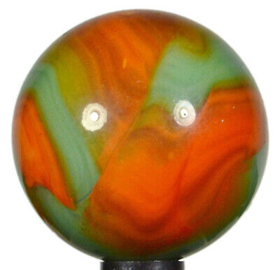 """Vintage PELTIER NLR MARBLE 21/32"""" National Rainbo """"FLAMING DRAGON"""" Mint As-Made!"""