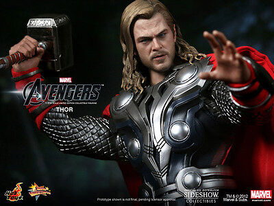 The Avengers~Thor / Chris Hemsworth~Sixth Scale Figure~Mms175~Hot Toys~Mib